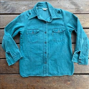 Levi's for gals button down shirt big E workwear